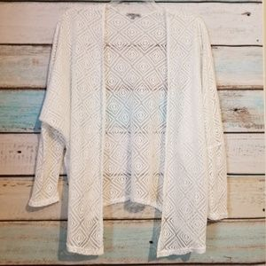 Charlotte Russe White Lace Swim Cover Size Large